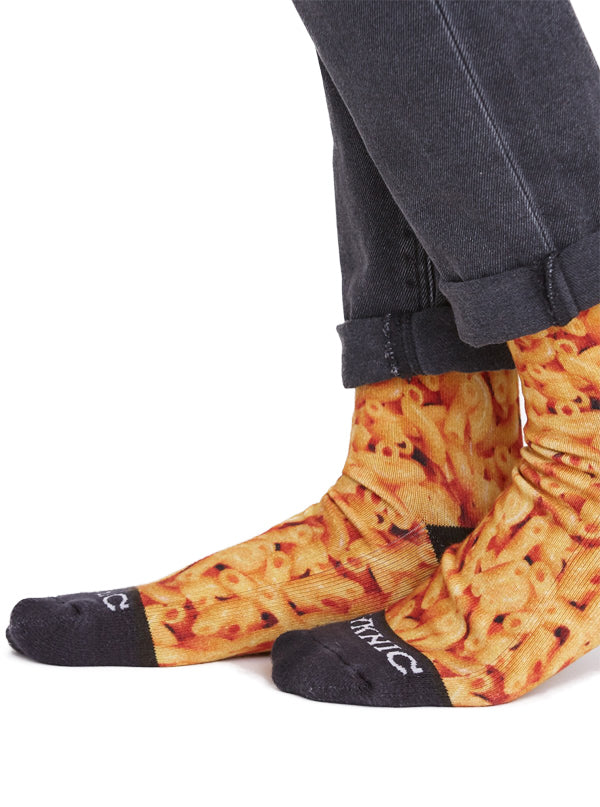 Unisex Mac and Cheese Crew Socks by Pyknic