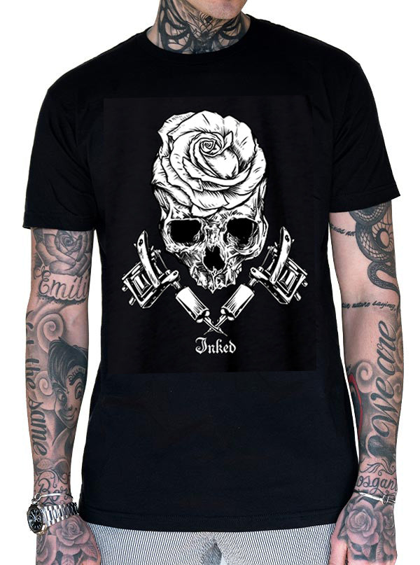 Unisex Rose Machine Tee by Inked
