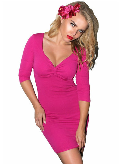 "Women's ""Lovespell"" Pinup Dress by Demi Loon (Magenta)"