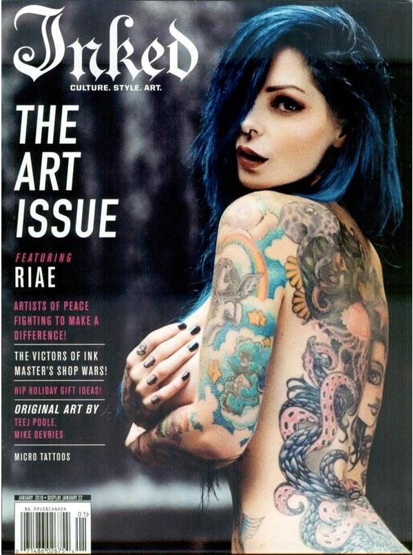 Inked Magazine: The Art Issue Featuring Riae - December 2017 / January 2018