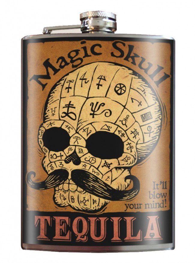 """Magic Skull Tequila"" Flask by Trixie & Milo - InkedShop - 1"