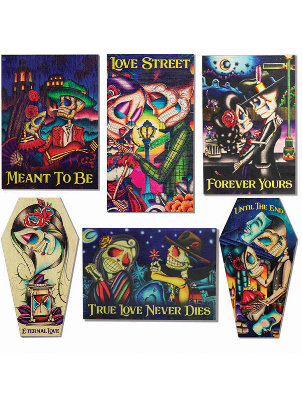 Wood Art Magnets by Dave Sanchez for Black Market Art Company