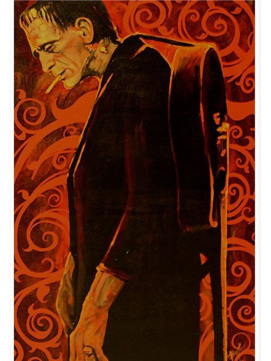 """Man in Black"" Print by Mike Bell for Lowbrow Art Company - www.inkedshop.com"