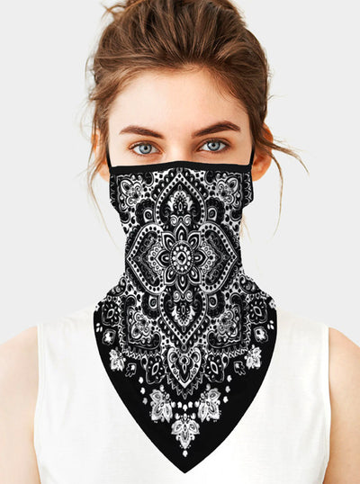 Mandala Flower Face Tube Mask