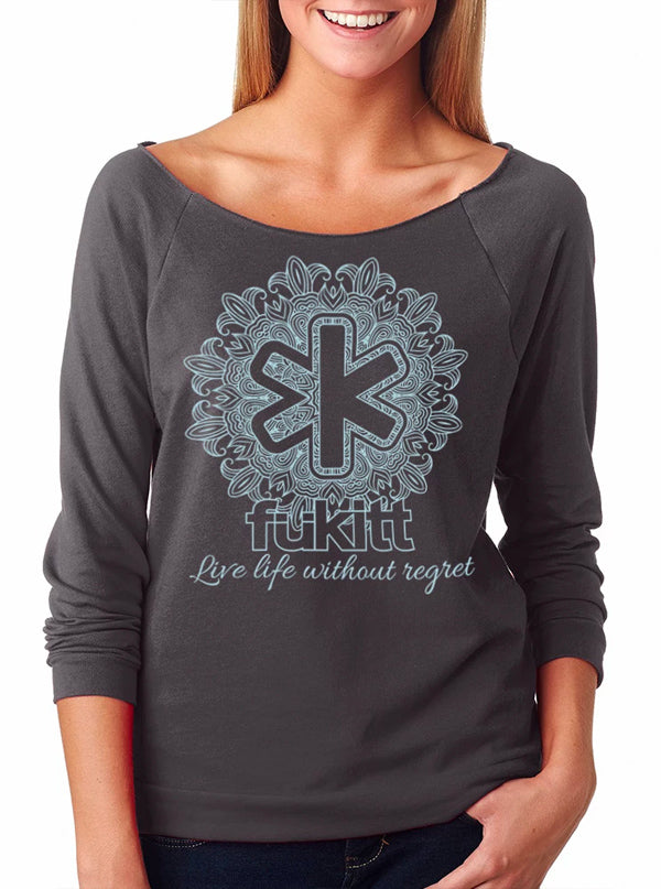 Women's Mandala Sweatshirt by Fukitt Clothing