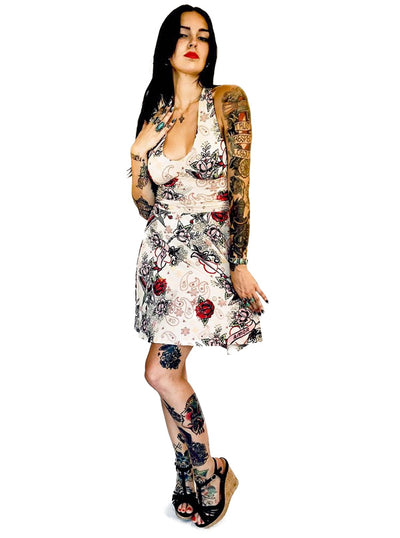 "Women's ""Love"" Marilyn Dress by Switchblade Stiletto (Beige)"