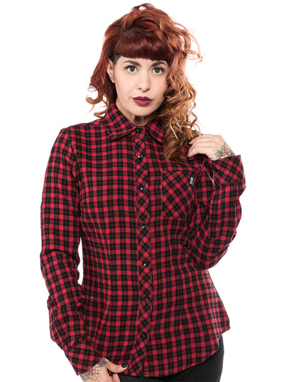Women's Maryann Flannel Top by Sourpuss