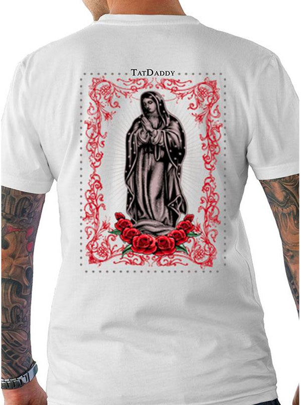 "Men's ""Hail Mary"" Tee by Tat Daddy (White)"