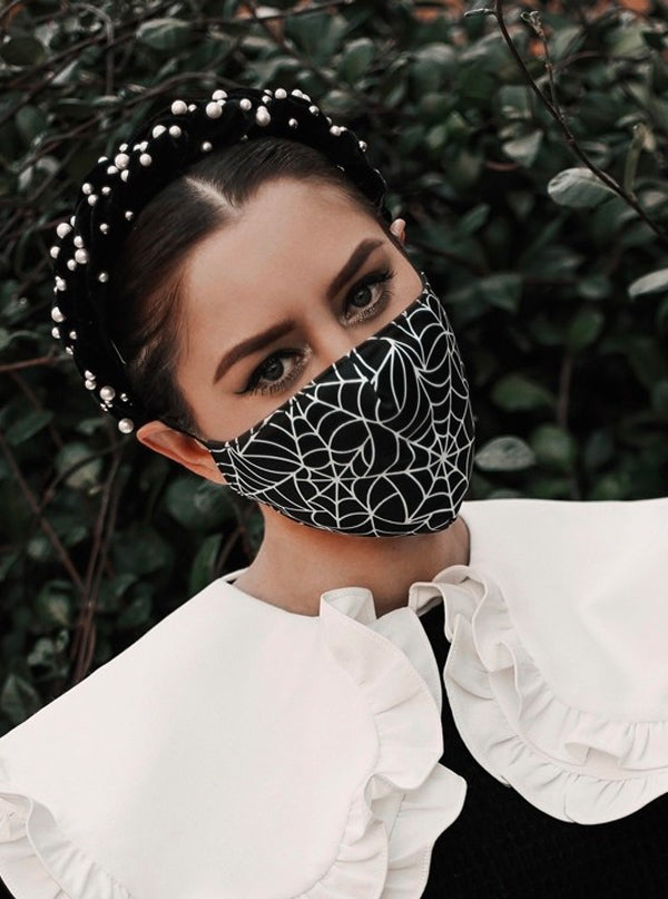 Spiderweb Face Mask by Sourpuss