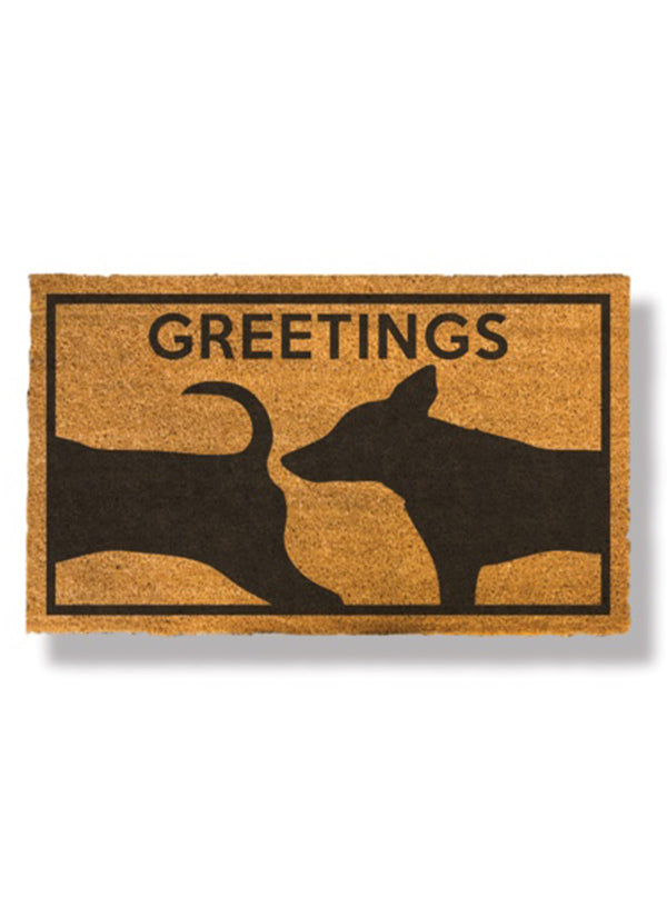 Dog Greetings Doormat by Bison
