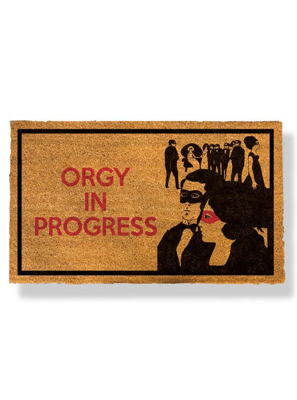 Orgy In Progress Doormat by Bison