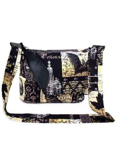 """Edgar Allen Poe"" Messenger Bag By Hemet (Black) - www.inkedshop.com"