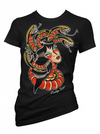 "Women's ""Turn to Stone"" Tee by Pinky Star (Black) - www.inkedshop.com"