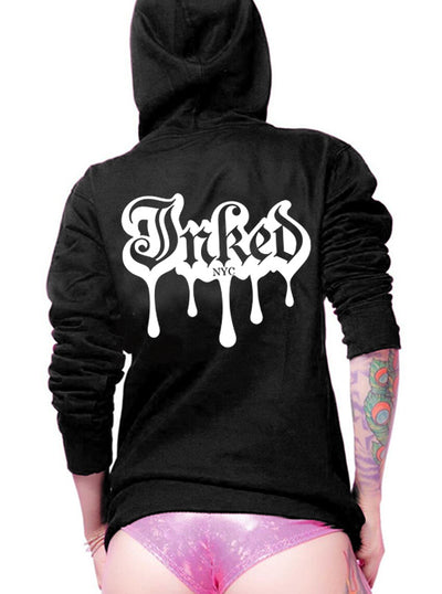 Unisex Melted Inked Zip Up Hoodie by Inked