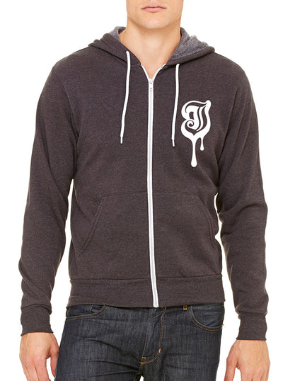 "Unisex "" Melted Inked"" Zip Up Hoodie by Inked (More Options)"