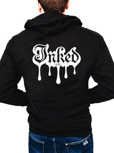 Unisex Melted Inked Zip Up Hoodie by Inked (More Options)