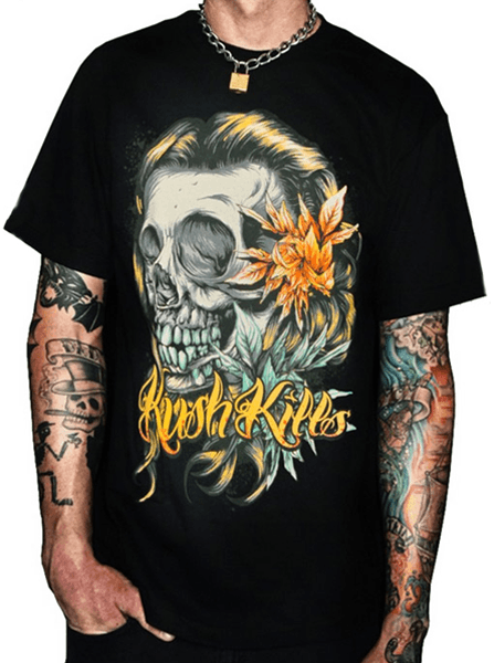 "Men's ""Beautiful Tragedy"" Tee by Kush Kills Clothing (Black) - InkedShop - 1"