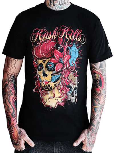 "Men's ""The Deepest Beauty"" Tee by Kush Kills Clothing (Black) - InkedShop - 1"