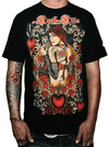 "Men's ""Queen of Hearts"" Tee by Kush Kills Clothing (Black) - InkedShop - 1"