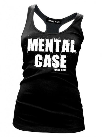 "Women's ""Mental Case"" Tank by Pinky Star (Black) - www.inkedshop.com"