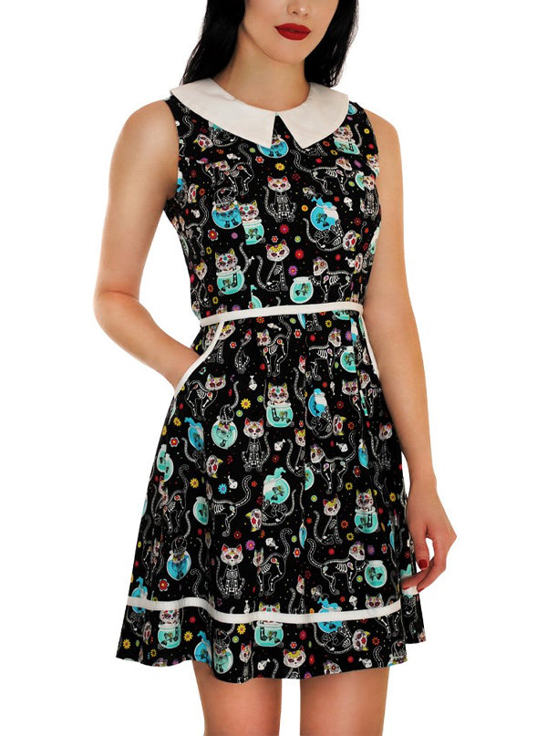 Women's Meow Or Never Dress by Retrolicious