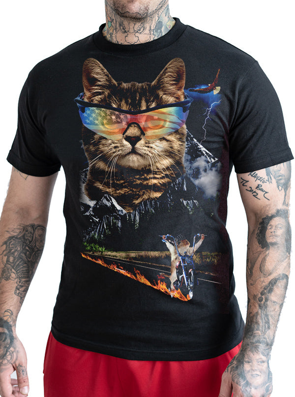 Men's Meow For Freedom Tee by Goodie Two Sleeves