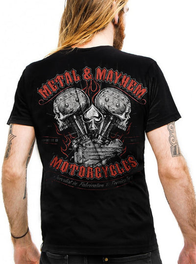 "Men's ""Metal Mayhem"" Tee by Lethal Threat (Black)"