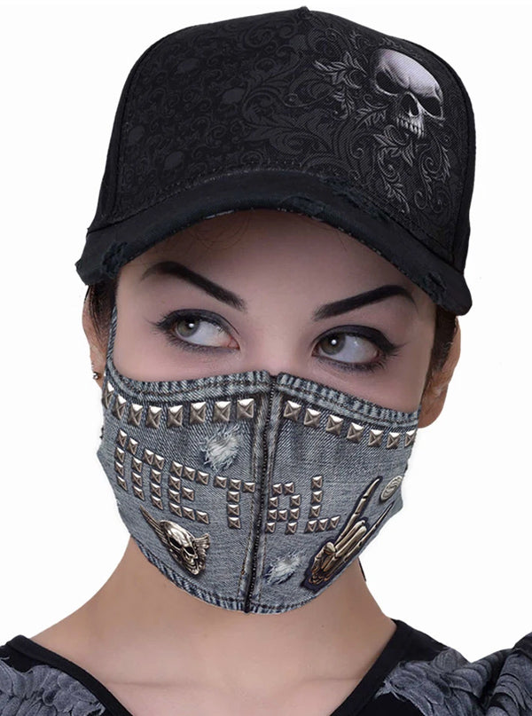 Thrash Metal Protective Face Mask by Spiral USA