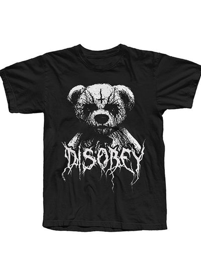 "Men's ""Black Metal Teddy Disobey Tee"" by The T-Shirt Whore (Black) - InkedShop - 1"