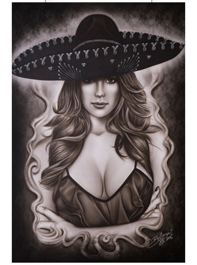 Mexican Beauty Print by Big Ceeze for Black Market Art
