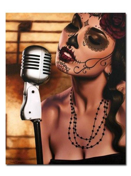 """Mi Cancion"" Print by Daniel Esparza for Black Market Art - InkedShop - 1"