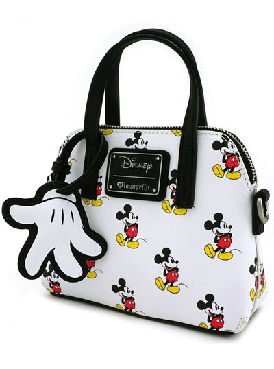 Mickey Print Micro Dome Crossbody Bag by Loungefly