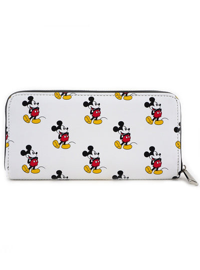 """Mickey Print"" Wallet by Loungefly (White)"