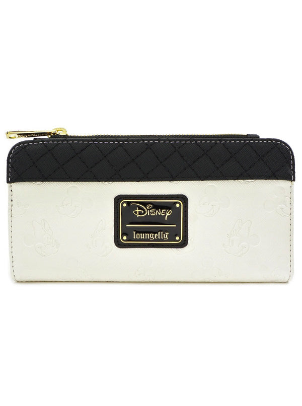 Mickey & Minnie Flap Wallet by Loungefly (Black/White)