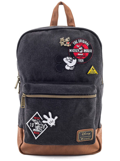 Mickey Patches Backpack by Loungefly (Denim)