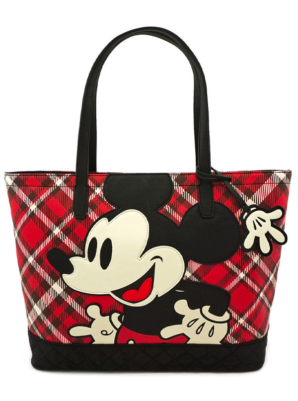 Mickey Mouse Twill Tote Bag by Loungefly (Red)