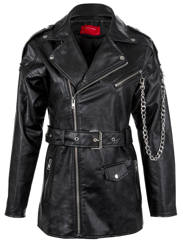 Women's Midnight Rider Moto Jacket by Pretty Attitude Clothing