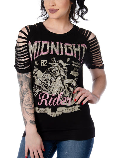 Women's Midnight Dirge Top by Liberty Wear