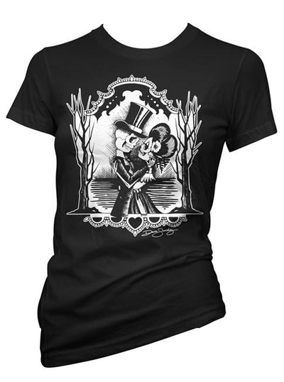 "Women's ""Forever Midnight"" Tee by Cartel Ink (Black)"