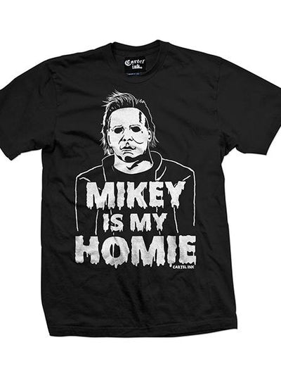 "Men's ""Mikey Is My Homie"" Tee by Cartel Ink (Black)"