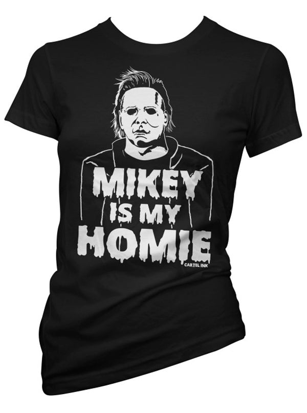 "Women's ""Mikey Is My Homie"" Tee by Cartel Ink (Black)"