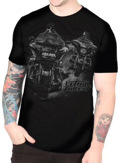 "Men's ""More Mileage"" Tee by Lethal Threat (Black)"