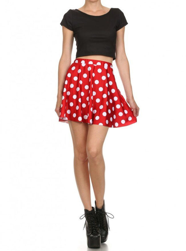 Minnie Mouse Skirt Womens Minnie Mouse Skater Skirt