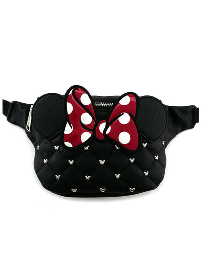 """Minnie"" Faux Leather Fanny Pack by Loungefly (Black)"