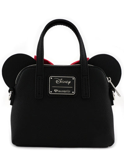 """Minnie Eyes"" Micro Dome Crossbody Bag by Loungefly (Black/Red)"