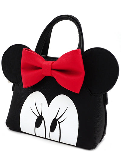 Minnie Eyes Micro Dome Crossbody Bag by Loungefly (Black/Red)