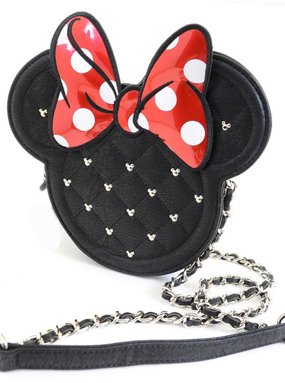 Minnie Mouse Die Cut Quilted Crossbody Bag by Loungefly