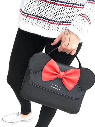 """Minnie Ears"" Crossbody Bag by Loungefly (Black/Red)"