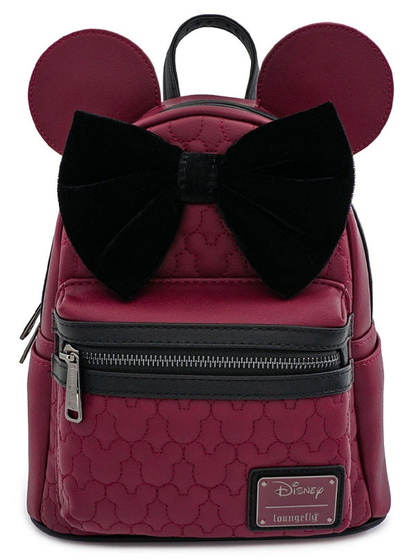 Minnie Mouse Mini Backpack by Loungefly (Maroon)