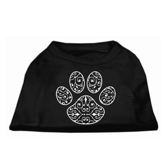 Henna Paw Screen Print Shirt by Mirage (Black) - InkedShop - 1